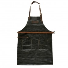 Lederschürze FEUERMEISTER® Antikleder Braun mit Taschen