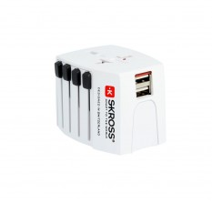 Skross Steckeradapter World Travel MUV USB