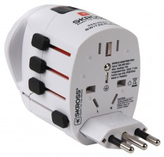 Skross Steckeradapter World Pro World Schutzkontakt